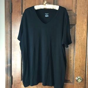 Merona Black V-Neck/Short Sleeve ULTIMATE Tee 4X